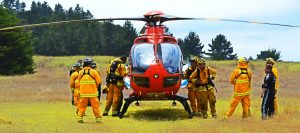 防災ヘリによる訓練
